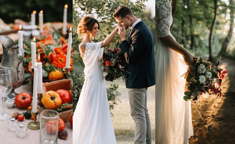 robe de mariée automne hiver bohème chic